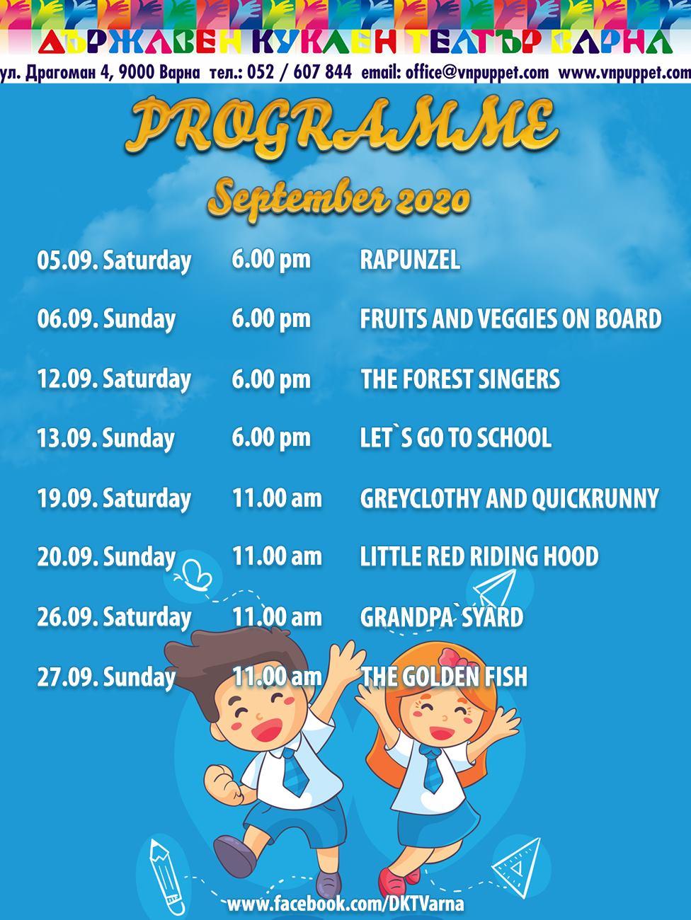 Programme Sept 2020
